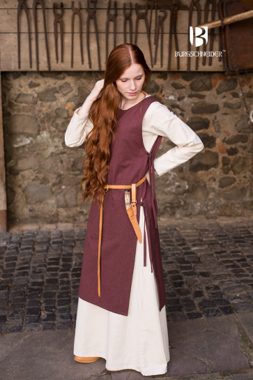 Brown Viking Overdress Haithabu by Burgschneider