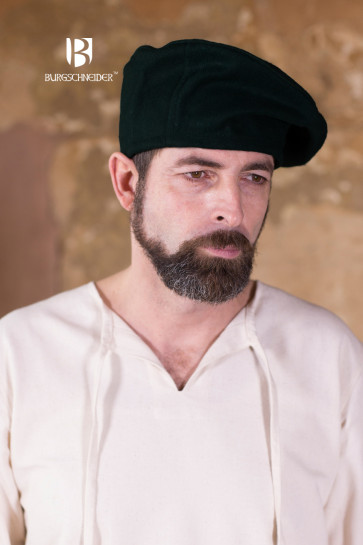 Black wool beret Harald by Burgschneider for heroes