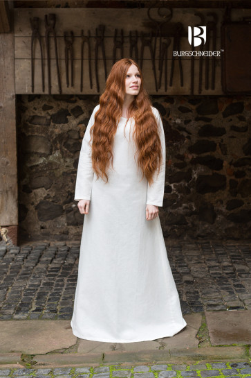 Authentic natural white linen underdress Frigga by Burgschneider