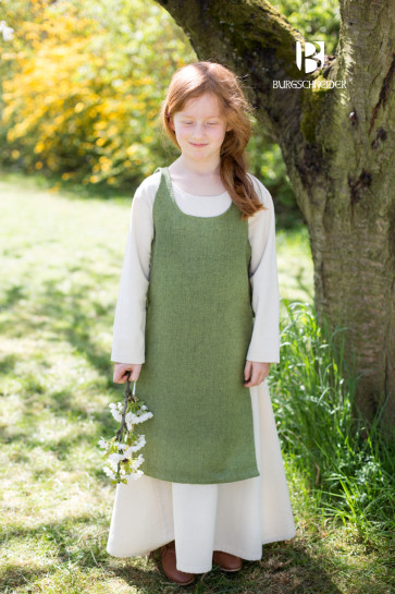 Linden green Childrens Dress Ylva by Burgschneider