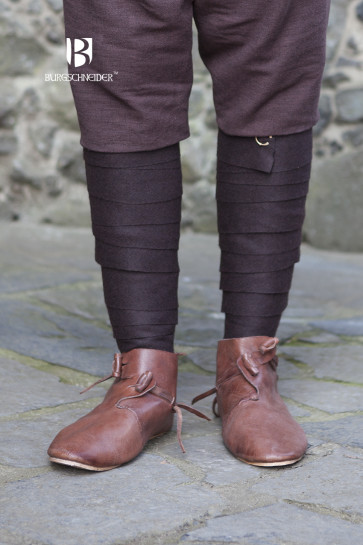 Close-up of brown Wool Puttees Aki by Burgschneider