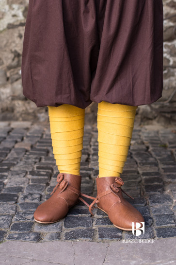 Colorful yellow wool Puttees Aki by Burgschneider