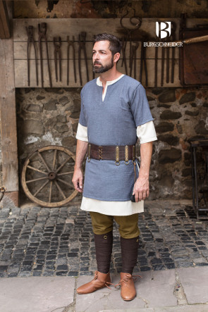 Grey Cotton Tunic Aegir by Burgschneider