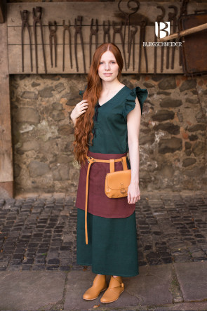 Medieval womens dress Agga by Burgschneider in green