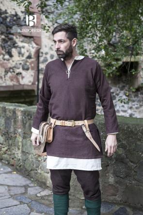Brown Short Tunic Erik by Burgschneider
