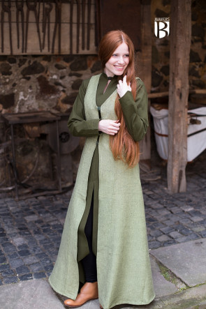Sleeveless Coat Maiva - Linden Green