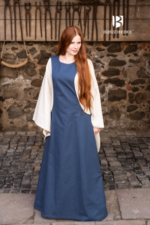 Beautiful woad blue overdress Isabella by Burgschneider