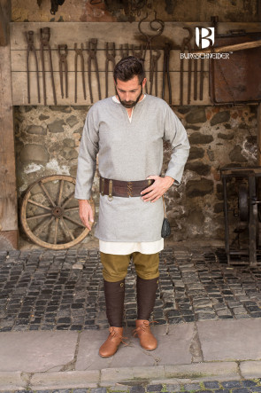 LARP Garment with Wool Tunic Lodin by Burgschneider in grey