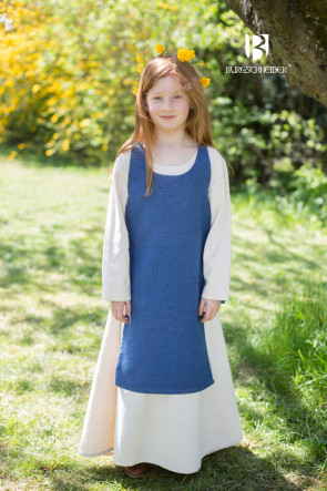 Medieval Childrens Dress Ylva by Burgschneider in ocean blue
